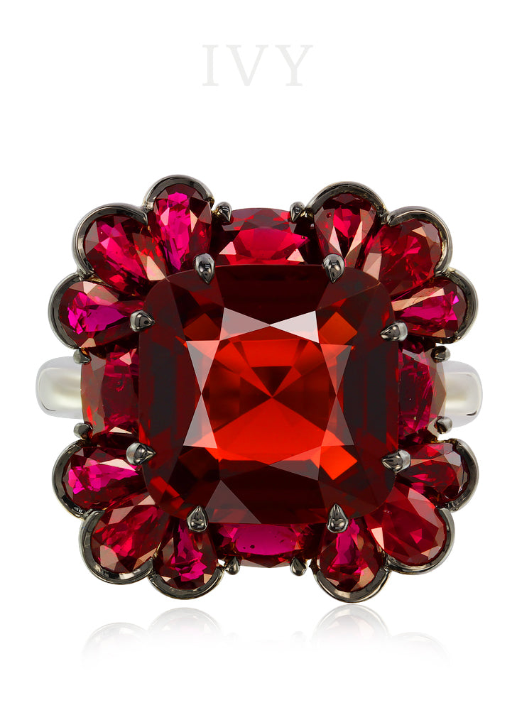Red Spinel Petal Combination