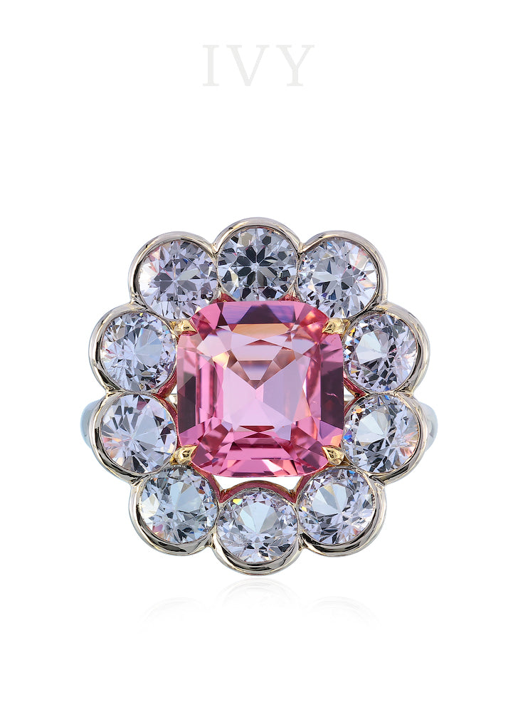 Pink and Lavender Spinel Ring