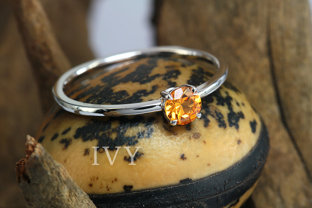 Ring with Mandarin Garnet