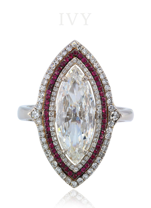 La Grande Marchesa Ring with Rubies and Diamonds