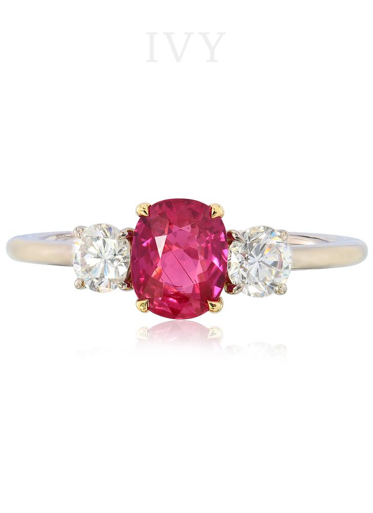 Mon Petit Trésor Ruby and Diamond Ring