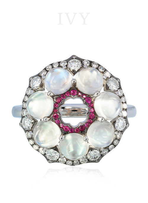 Moonstone Wreath Ring