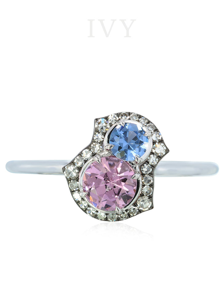 Pupetta Ring in Blue and lavender