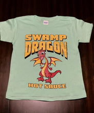 Swamp Dragon youth tee mint green