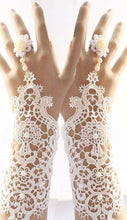 Bridal Formal Lace Gloves,  Wedding White Lace Gloves