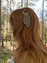 Peacock Veil, Bridal Bandeau Veil, Bridal Wedding Veil, Formal Veil