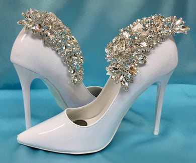 Bridal Shoe Clips, Wedding Shoe Accessory, Rhinestone Crystal Shoes