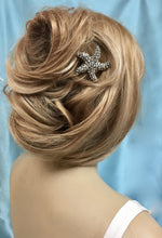 Summer Beach Wedding Hair Accessory For Bride, Starfish Rhinestone Comb