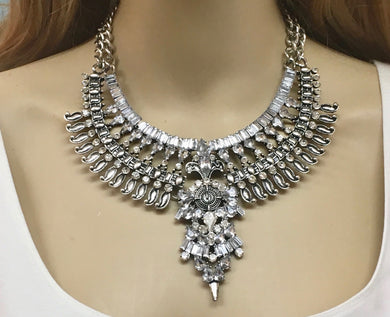 Egyptian Art Deco Boho Necklace Jewelry