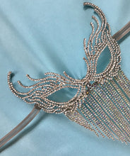 Rhinestone Carnival Costume, Masquerade Party Mask