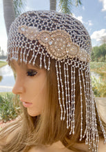 Crystal Silver Cloche Retro Headpiece, Great Gatsby Flapper Hat