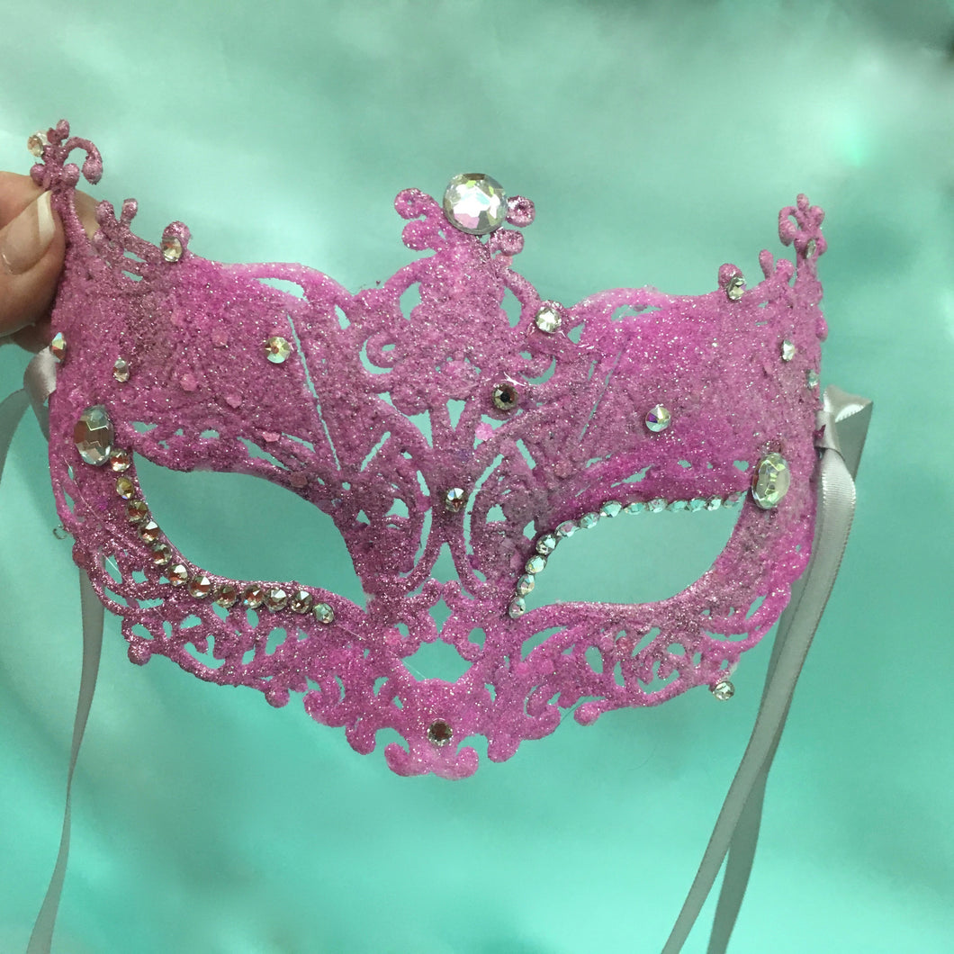 Masquerade Party Mask, Pink Laser Mask, Halloween Party Mask, Art Deco Mask, Wedding Mask