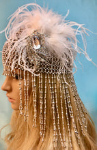 Great Gatsby Wedding Accessory, Art Deco Bridal Headpiece, Flapper Retro Hat
