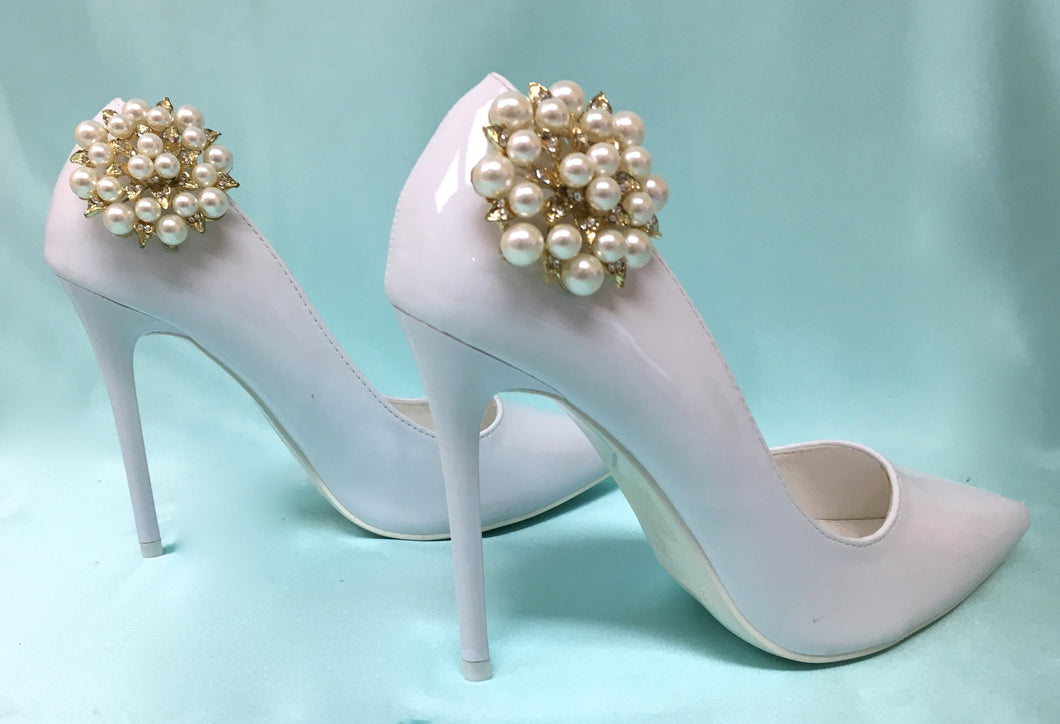 Pearl Shoe Clips Accessory for Bride