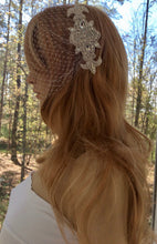 Bandeau Bridal Wedding Veil,  Wedding Gown Accessory, Birdcage Veil