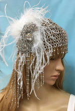 Art Deco Flapper Hat, Great Gatsby Crystal 1920s Headpiece, Boho Crystal Hat