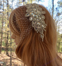 Bridal Bandeau Veil, Wedding Blusher Veil, Wedding Birdcage Veil