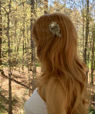 Short Bridal Veil, Bandeau Birdcage Veil, Wedding Bridal Veil