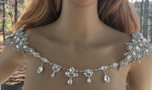 Bridal Boho Wedding Rhinestone Shoulder Necklace