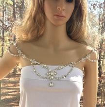 Rhinestone Boho Art Deco Necklace For Bridal Wedding