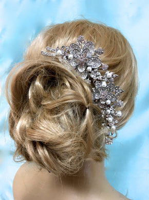 Rhinestone Hair Comb For Wedding and Formal Occasion