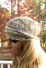 Boho Retro Headpiece, Deco Gatsby Hat, Flapper Wedding Bride