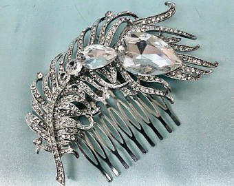 Bridal Rhinestone Comb Headpiece