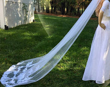Chapel Length Bridal Wedding Veil