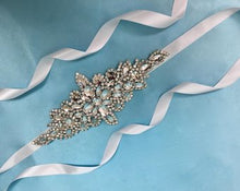 Rhinestone Bridal Wedding Sash, Bridal  Crystal Wedding Belt