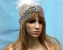 Flapper Great Gatsby Headpiece, Art Deco Crystal Cloche
