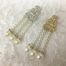 Art Deco Bridal Earrings, Pearl Chandelier Drop Earrings