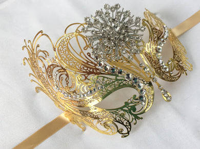 Gold Masquerade Mask,  Carnival  Costume Party Mask
