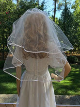 Shoulder Length Bridal Veil, Bridal Veil, Wedding Veil, Two Tier Bridal Veil, Two Tier Wedding Veil