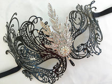 Rhinestone Crystal Masquerade Mask, Masquerade Wedding, Halloween Mask