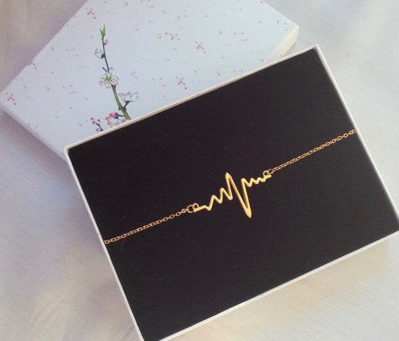 Doctor Nurse Heartbeat Bracelet,  Medical Jewelry Gift