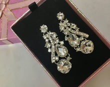 Rhinestone Bridal Wedding  Earrings,  Drop Dangle Chandelier  Earrings