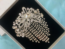 Crystal Brooch Pin, Rhinestone Wedding Brooch