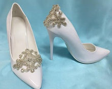 Rhinestone Shoe Clips, Bridal Shoe Clips, Shoe Accessory, Formal Shoes