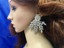 Art Deco Bridal Earrings, Vintage Style Wedding  Earrings, Chandelier  Drop Earrings