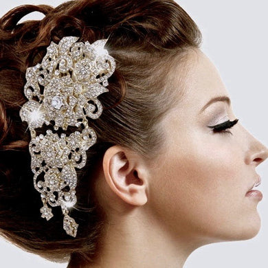 Wedding Rhinestone Headpiece, Bridal Crystal Comb