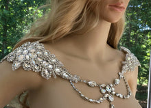 Art Deco Bridal Rhinestone Shoulder Necklace For Wedding