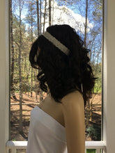 Bridal Hair Jewelry, Wedding Crystal Headband, Silver White Headpiece