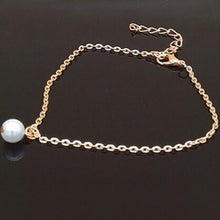 Pearl Ankle Bracelet, Bridal Wedding Anklet, Summer Beach Jewelry