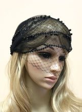 Black Veil Hat Cap for Deco Bridal Wedding