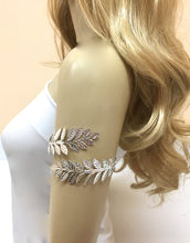 Leaf Boho Upper Arm Bracelet, Greek Wrap Wedding Cuff
