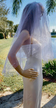Lace Edge Veil, Mantilla Wedding Veil, White Bridal Veil, Wedding Gown Accessory