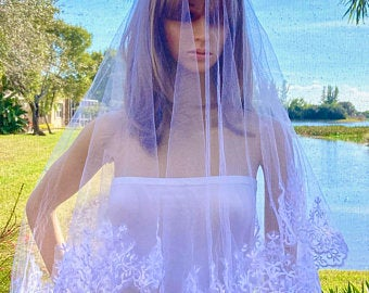 Cathedral Wedding Veil, Classic Bridal Veil, Wedding Gown Accessory