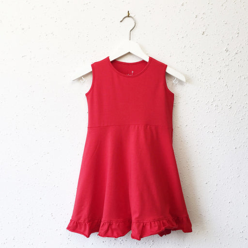 EMILY dress in Flame Red
