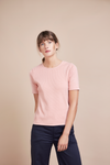Astrid Rose Rib Organic Cotton T-Shirt