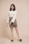 Organic Taupe Pencil Skirt